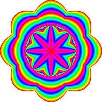 rainbow ellipse flower 8 petal von Chandler Klebs
