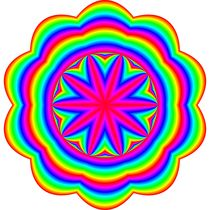 rainbow ellipse flower 10 petal von Chandler Klebs