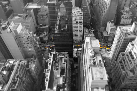 New-york-top-view-yellow-black-and-white