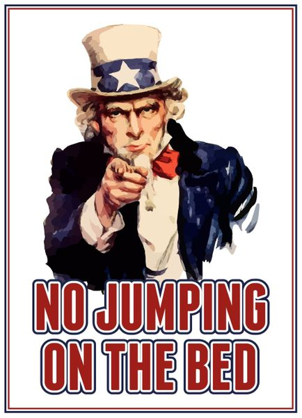 Gt-uncle-sam-no-jumping-on-the-bed