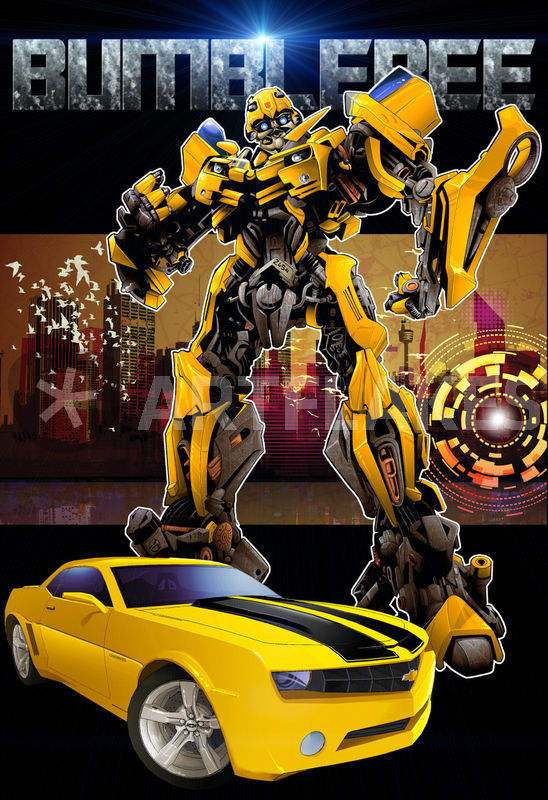 """Bumblebee transformer-poster"" Drawing art prints and ..."