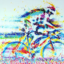 Radrennfahrer by Ewald Müller