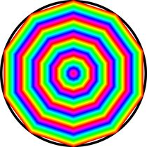 rainbow decagon von Chandler Klebs
