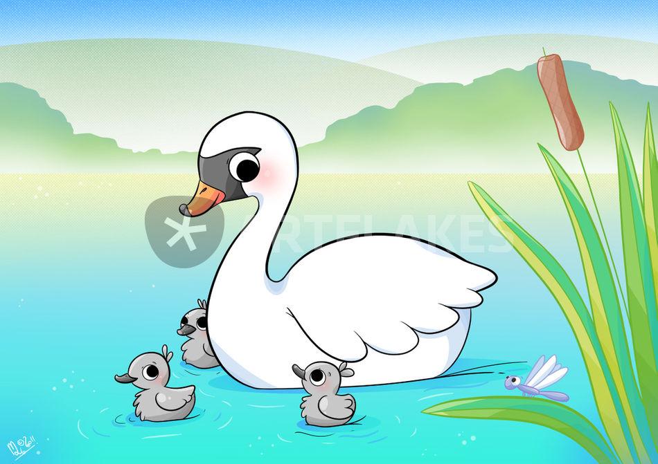 Swan Drawing Art Print