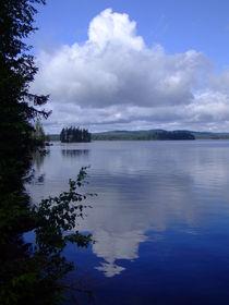 Swedish cloud reflection in lake von Peter Hoetmer