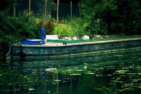 Abandoned-barge