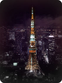 Tokyo Tower at night by Janice Tse