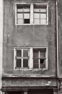 Meißen - alte Fassade (sw) by Peter Zimolong