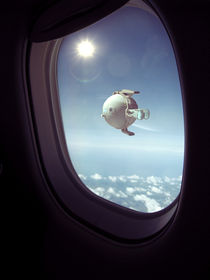 Airplane window by Michal Orzelek