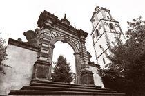 Meißen - Tuchmachertor und Frauenkirche von Peter Zimolong