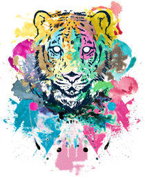 Tiger Splash by Geo Law