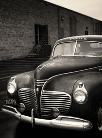 1941 Plymouth Police Car by Susan Isakson