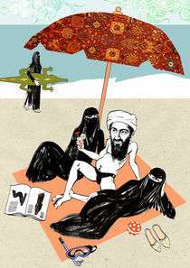Osama bin Laden is on Holiday by Sandor Csala