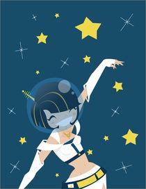 Galactic girl by Ana Cristina Valencia