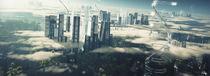 Futuristic City von Helen Khrustalyova