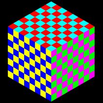 6 color chessboard cube von Chandler Klebs