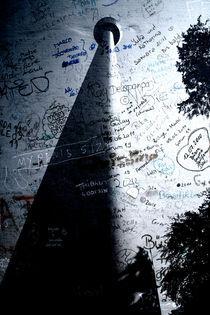 Fernsehturm Stuttgart Kunst  Poster 2011 by Falko Follert