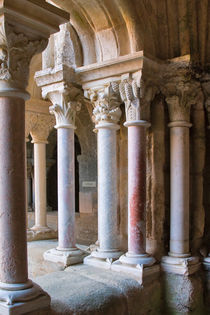 Marble Columns of Fontfroide Cloister von Louise Heusinkveld