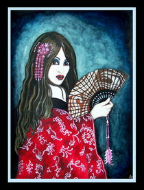 Geisha in Red by Sandra Gale