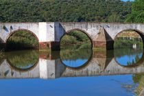 Ponte Romana crossing the River Arade, Silves, Algarve, Portugal.  by Louise Heusinkveld