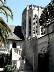 Church Courtyard by Elizabeth Budlong