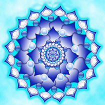 Blue Energize Mandala by regalrebeldesigns