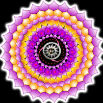 Resonating Reality Mandala von regalrebeldesigns