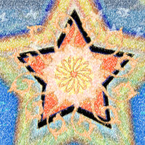 Floral Star Yantra by regalrebeldesigns