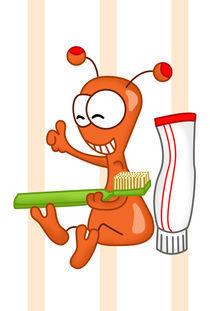 Kukie putzt Zähne Bild 3 Lächeln von Michaela Heimlich