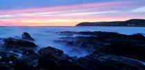 Sunset at Croyde Bay, North Devon. von Luke Eagle