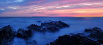 Sunset at Croyde Bay von Luke Eagle