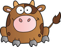 Cute Brown Cow von hittoon