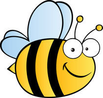 Cute Cartoon Bee von hittoon