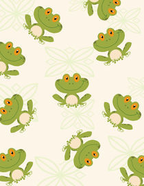 Seamless Pattern Tree Frog  by hittoon