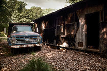 Truck and Barn von Susan Isakson