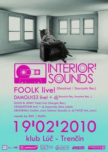 interior sounds poster by Marcel Velký
