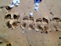 Feet in the sand by Petianu Marina