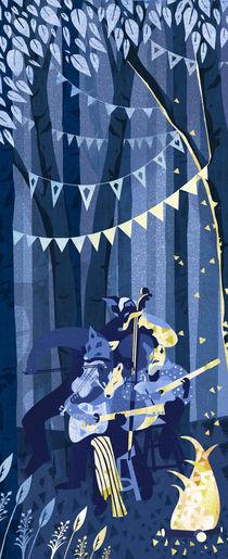 Silver Vixen Swing von Caroline Halliwell