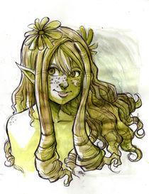 Green Fairy Elve by Marisa Martinez
