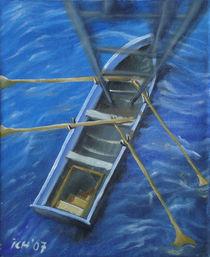 Lebensboot, schwebend im3D-Raum by Jens König
