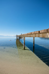 Lake Tahoe Pier in California America by pixinity