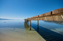 Pier at Lake Tahoe in California  by pixinity