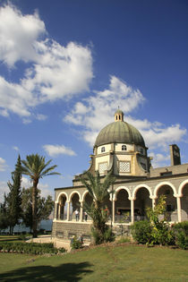 Israel, the Church of Beatitudes on the Mount of Beatitudes by Hanan Isachar
