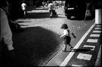 Child on walkside. Prague, 2010 by Maria Luros