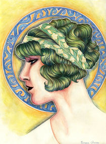 Art nouveau lady II by Francesca Zambon