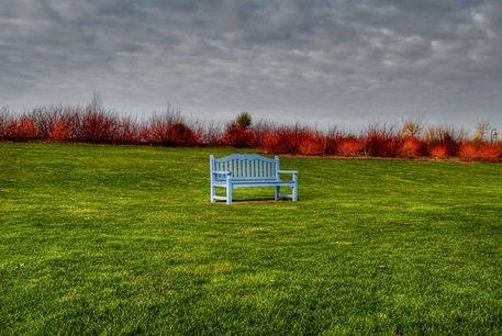 Blue-bench