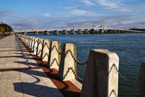Waterfront and Woods Memorial Bridge at Beaufort, South Carolina von Louise Heusinkveld