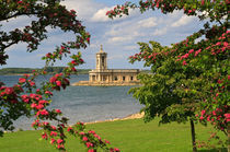 Normanton Church, Rutland Water in late spring by Louise Heusinkveld