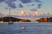 Sunset in North Sound, Virgin Gorda, British Virgin Islands.  von Louise Heusinkveld