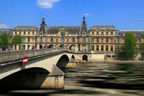 Pont du Carrousel, The Louvre, and the River Seine, Paris by Louise Heusinkveld